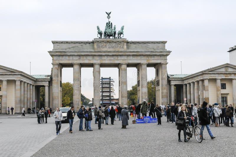 Porte de Brandebourg À Berlin photos stock