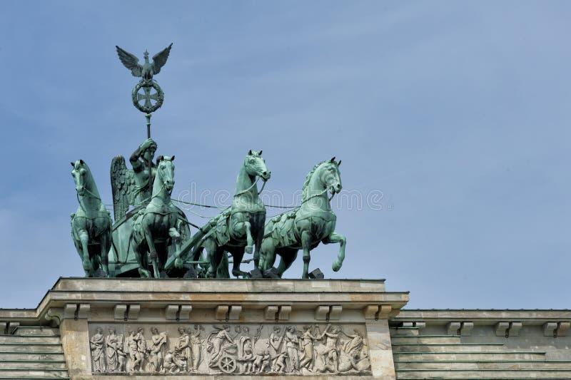 Porte de Brandebourg À Berlin photo stock