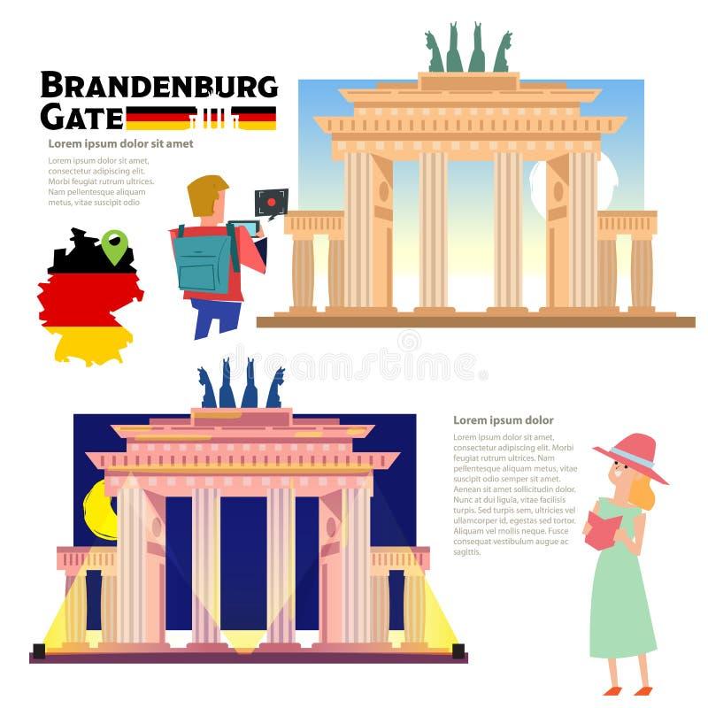 Porte de Brandebourg illustration de vecteur