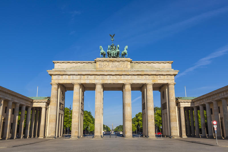 Porte de Brandebourg, Berlin image libre de droits