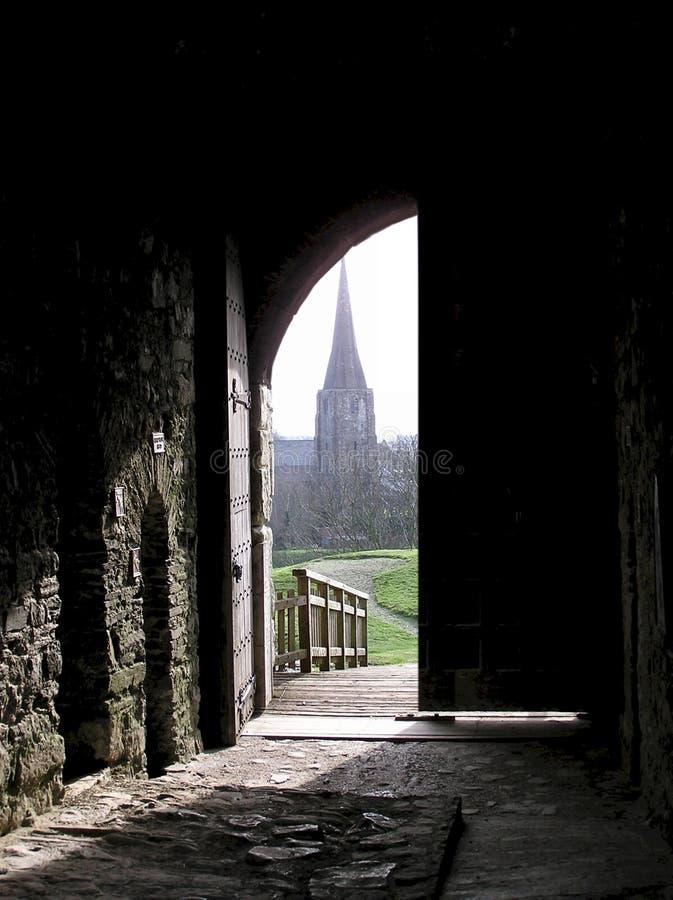 Porte de château photo stock