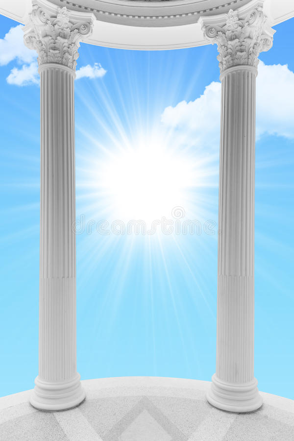 Porte de ciel ouverte photo stock