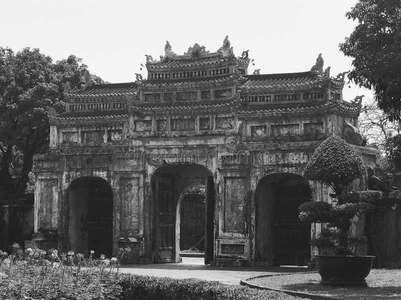 Porte de citadelle de Hue images libres de droits