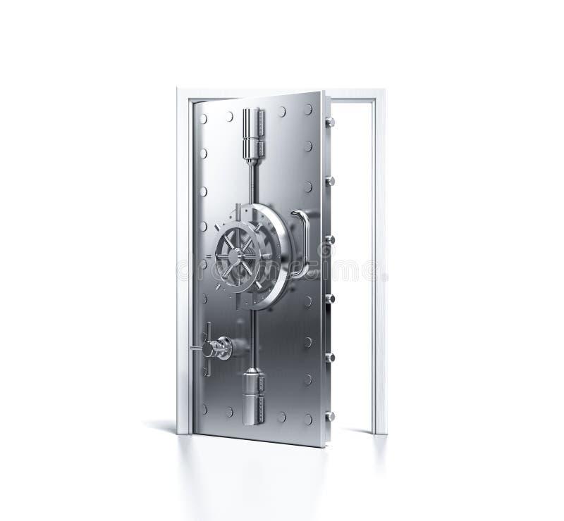 Porte de coffre-fort de sécurité à la maison photo stock