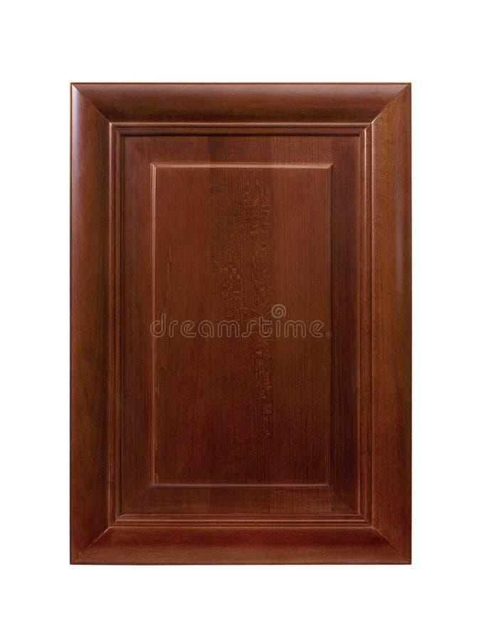 Porte de coffret avant de cadre en bois de cuisine d'isolement sur le blanc photos stock