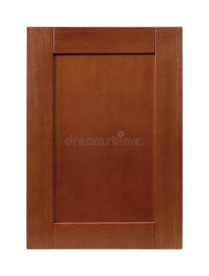 Porte de coffret avant de cadre en bois de cuisine d'isolement sur le blanc photo libre de droits
