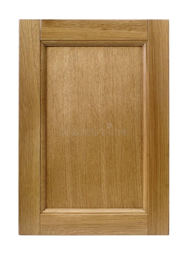 Porte de coffret avant de cadre en bois de cuisine d'isolement sur le blanc photos libres de droits