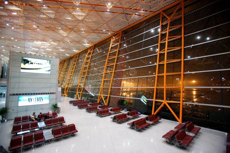 Porte de départ capitale d'aéroport international de Pékin images libres de droits