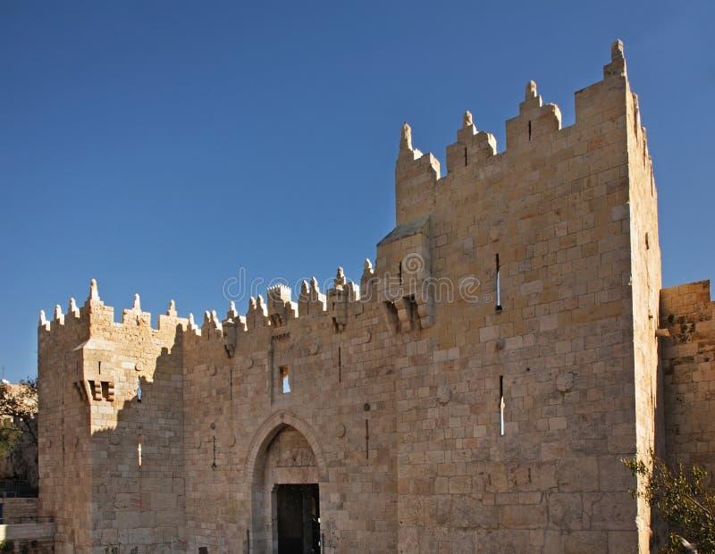 Porte de Damas à Jérusalem l'israel photos libres de droits