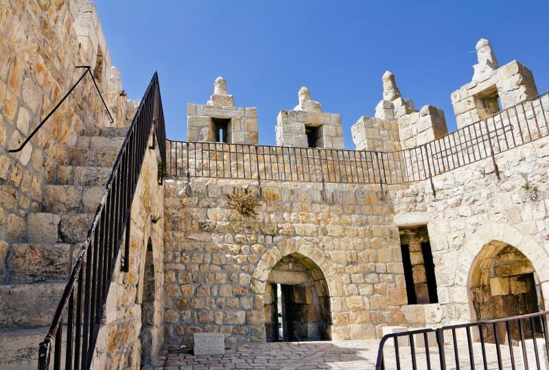 Porte de Damas à Jérusalem. Vue intérieure photo libre de droits