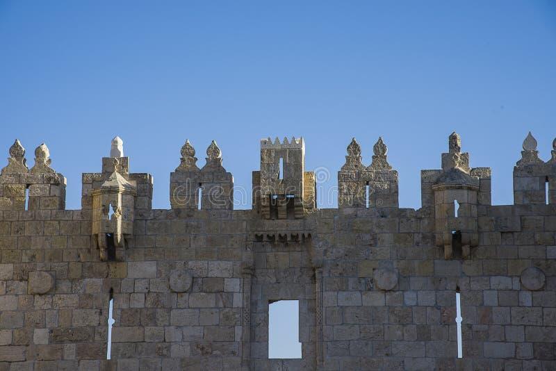 Porte de Damas de vieille ville Jérusalem photographie stock libre de droits