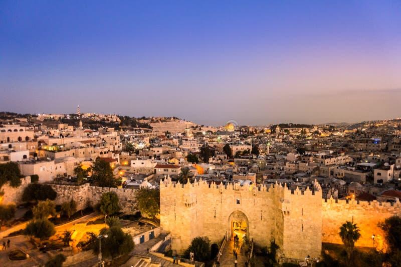 Porte de Damas et Jérusalem, Israël photographie stock libre de droits