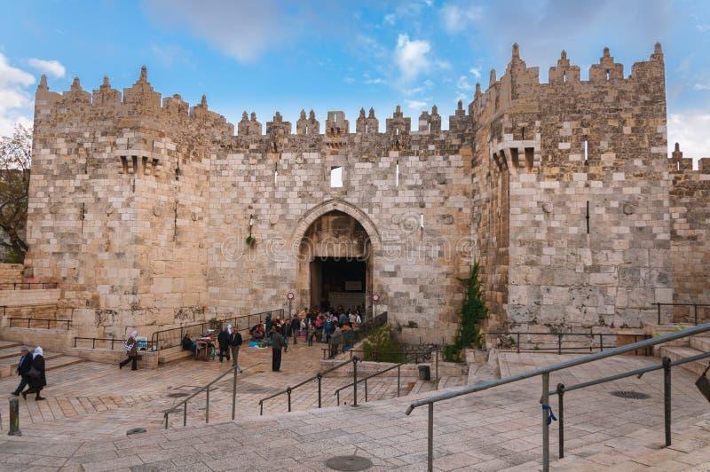 Porte de Damas, Jérusalem, Israël photographie stock libre de droits