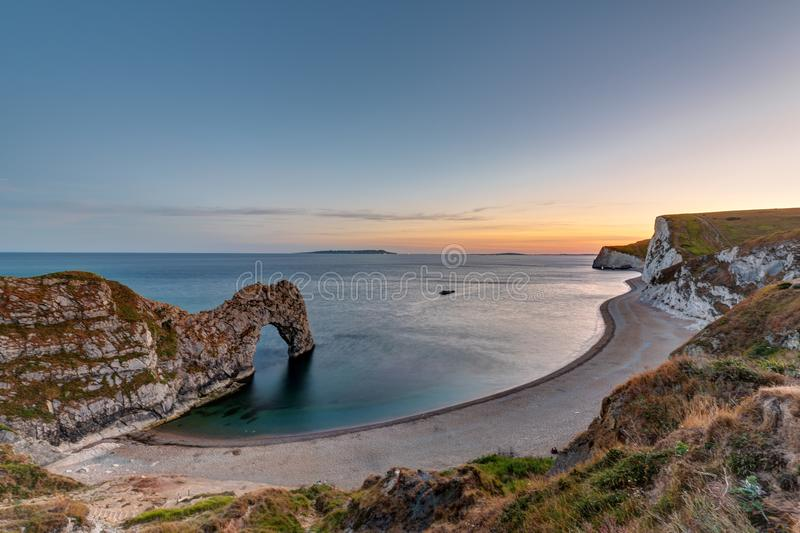 Porte de Durdle à la côte jurassique dans Dorset photographie stock libre de droits