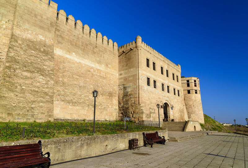 Porte de forteresse de Naryn-Kala Chancellerie du ` s de Khan dans Derbent image libre de droits