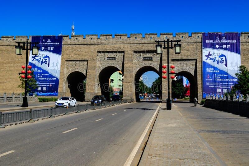Porte de Grande Muraille de Datong photographie stock