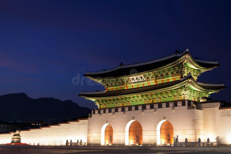 Porte de Gwanghwamun à Séoul, Corée du Sud photos libres de droits
