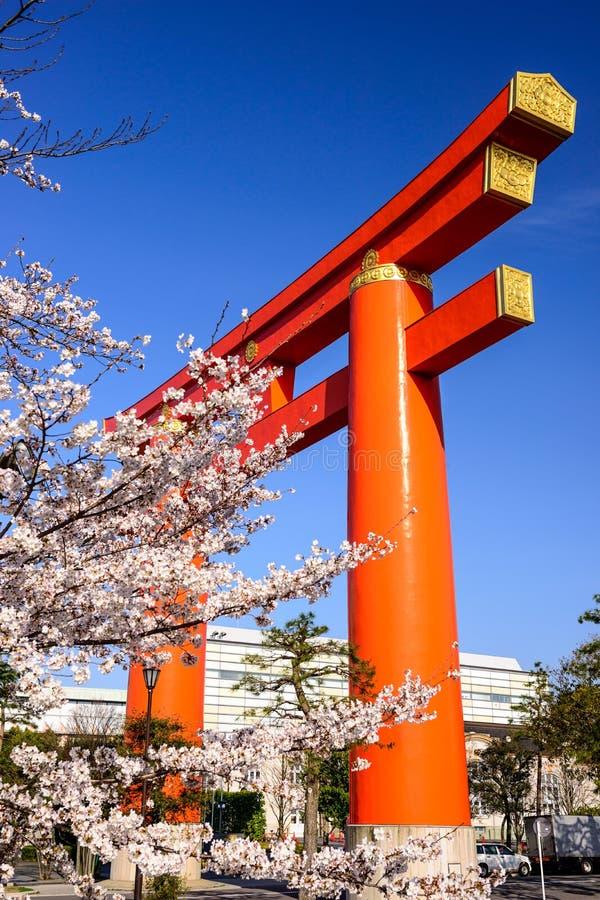 Porte de Heian Torii images stock