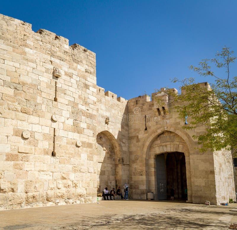 Porte de Jaffa dans la vieille ville de Jérusalem, Israël images stock