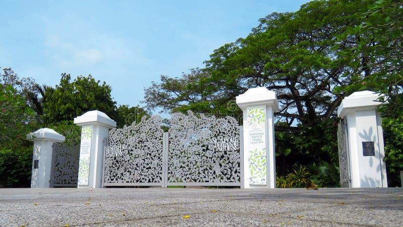 Porte de jardins botaniques de Singapour images stock
