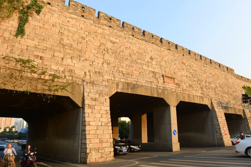 Porte de Jiqing de Nanjing, Chine images libres de droits
