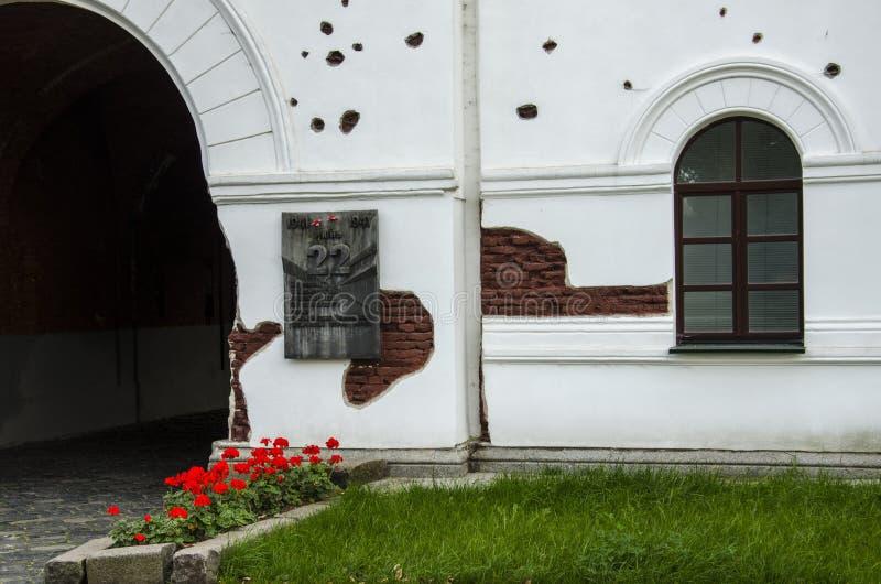 Porte de Kholm dans commémoratif héros-Fortressdu complexe le «Brest» photo stock
