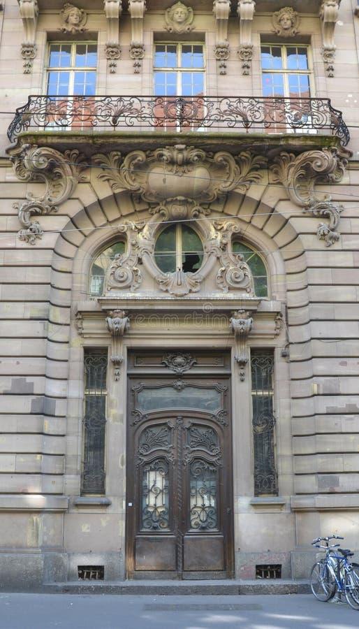 Porte de l' Banco de Ancienne Strassburger imagen de archivo libre de regalías