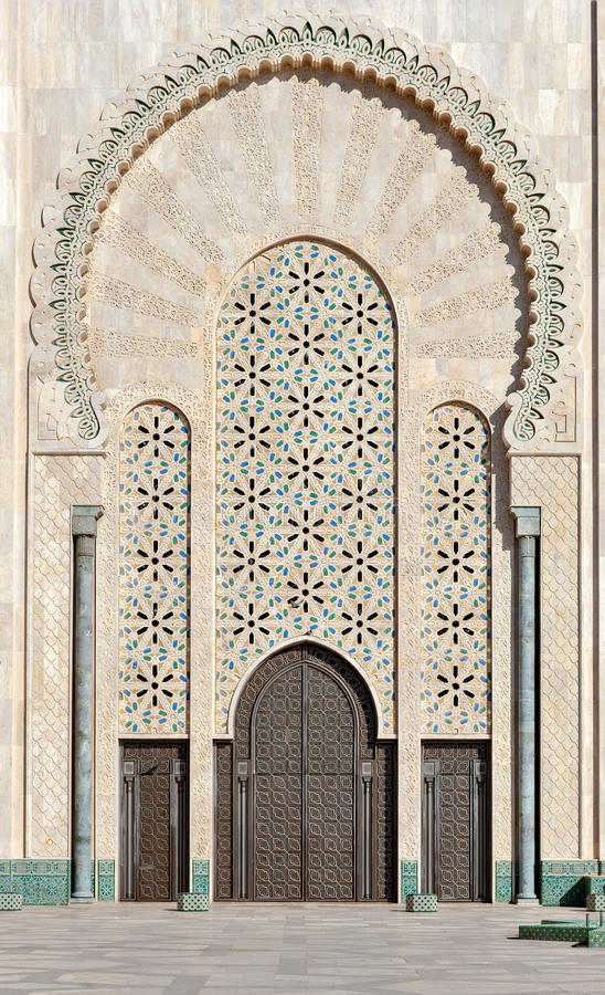 Porte de la mosqu e casablanca maroc de hassan ii photo for Mosquee hassan 2 architecture