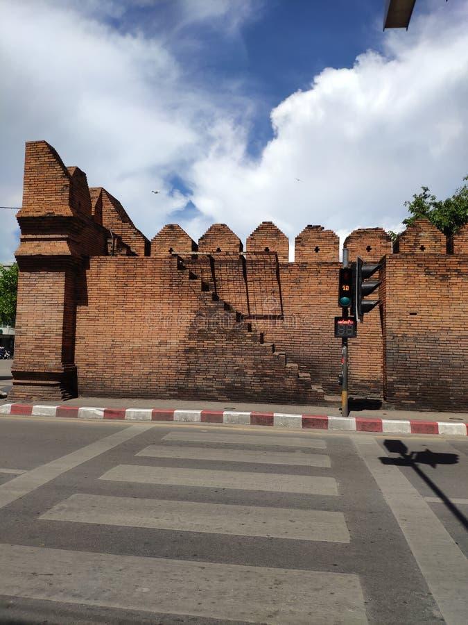 Porte de la vieille ville de Chiang Mai image libre de droits