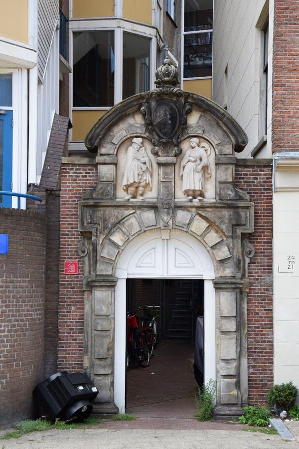Porte de Lepra chez Sint Antoniesluis à Amsterdam, Hollande, Pays-Bas photo libre de droits