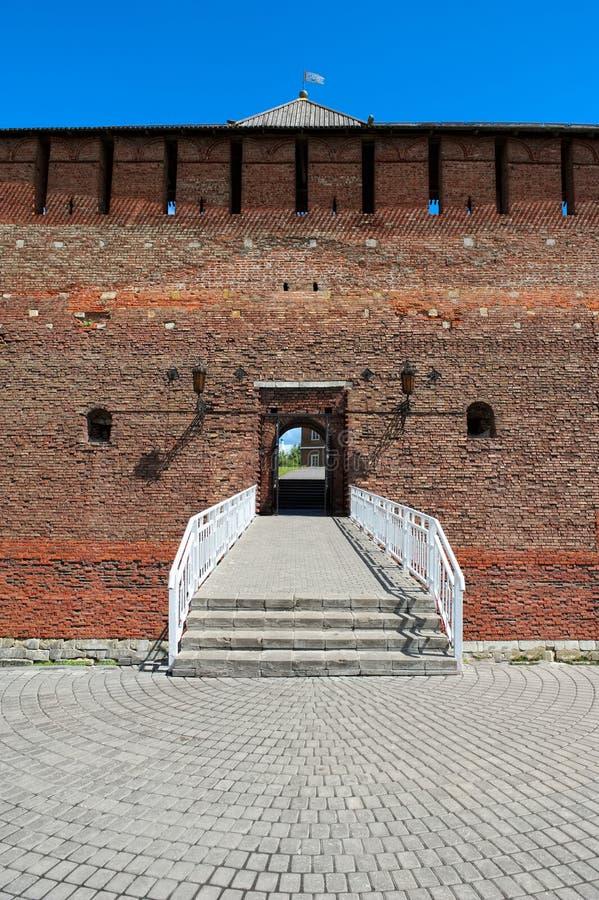 Porte de Mikhailovsky, point de repère, 1525 - 1531 image stock