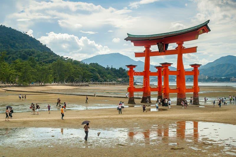 Porte de Miyajima à Hiroshima images libres de droits