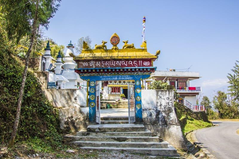 Porte de monastère de fève images stock
