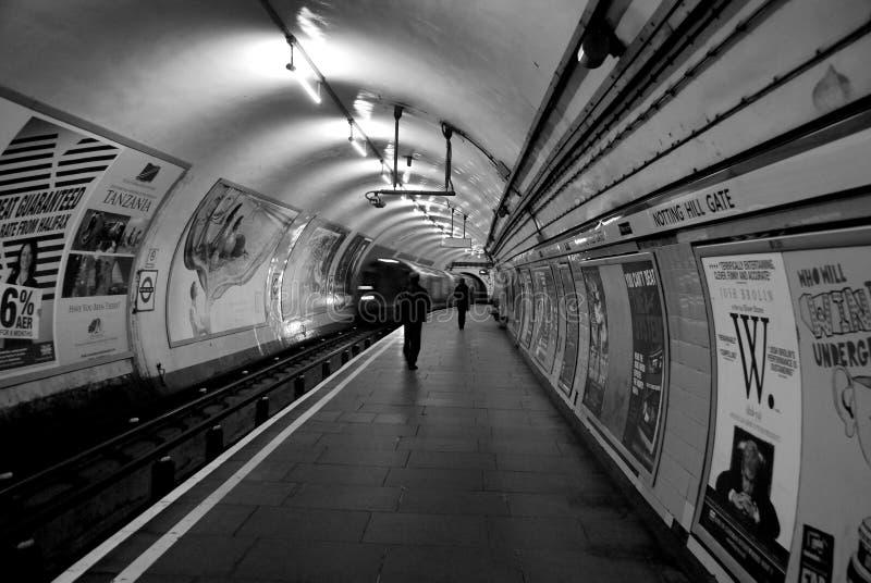 Porte de Notting Hill de station de métro de métro de Londres photo stock