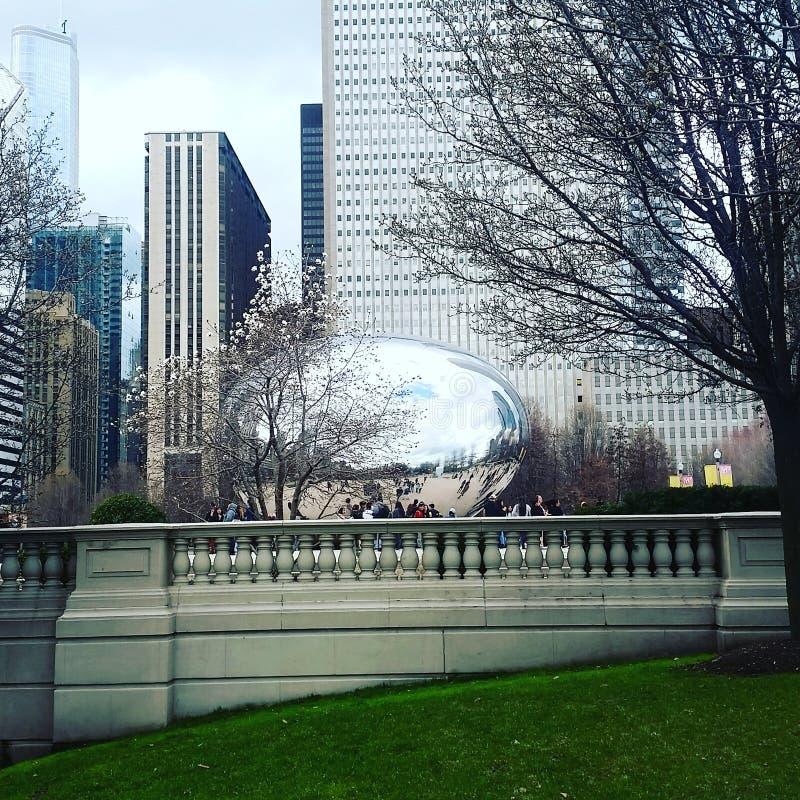 Porte de nuage le haricot Chicago image libre de droits