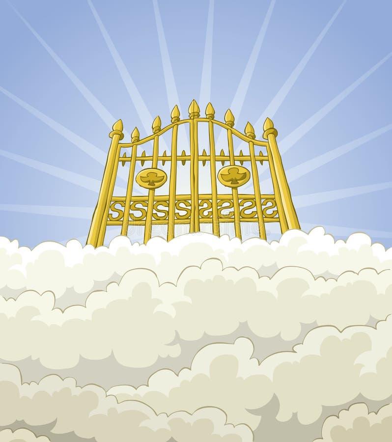 Porte de paradis illustration libre de droits