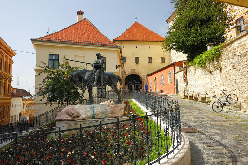 Porte de pierre de Zagreb image libre de droits