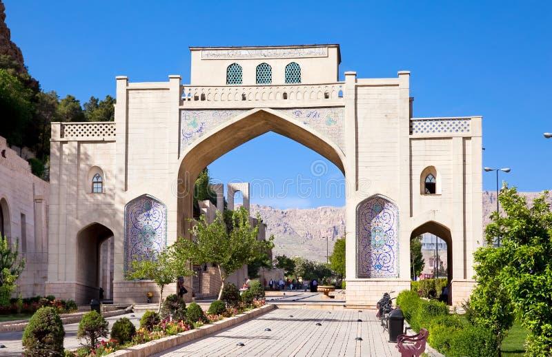 Porte de Quran de Darvazeh à Chiraz images libres de droits