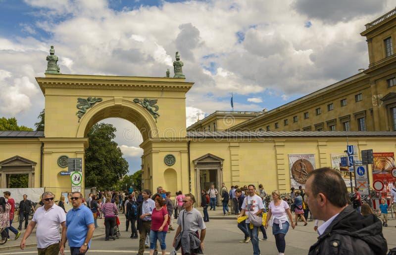 Porte de résidence de Munich, Bavière, Allemagne photos stock