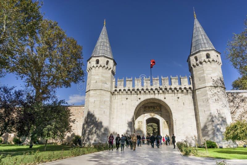 Porte de salutation, palais de Topkapi, Istanbul, Turquie images stock