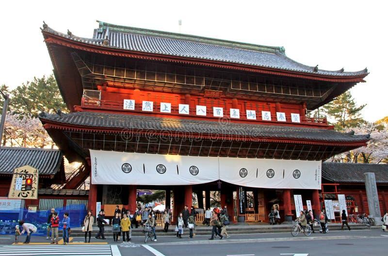 Porte de Sangedatsumon au temple de Zojoji à Tokyo image libre de droits