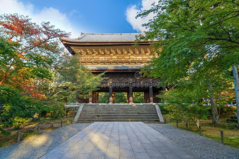 Porte de Sanmon au temple de Nanzen-JI à Kyoto, Japon photos libres de droits