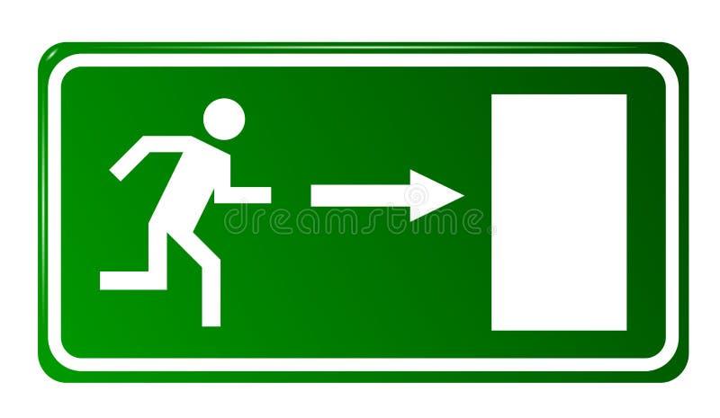 Porte de sortie de secours illustration de vecteur