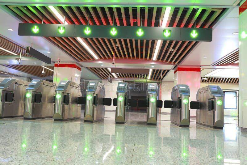 Porte de station de métro photos libres de droits