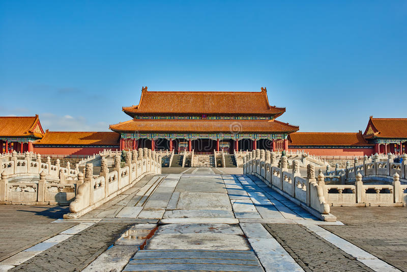 Porte de Taihemen de Harmony Imperial Palace Forbidden City suprême image stock