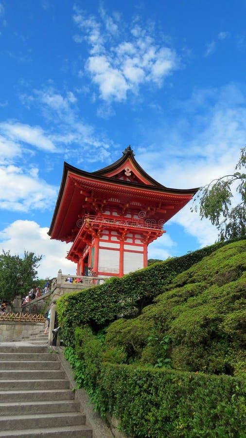 Porte de temple de Kiyomizudera à Kyoto image stock