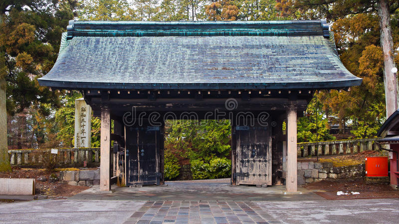 Porte De Temple De Rinnoji Images stock