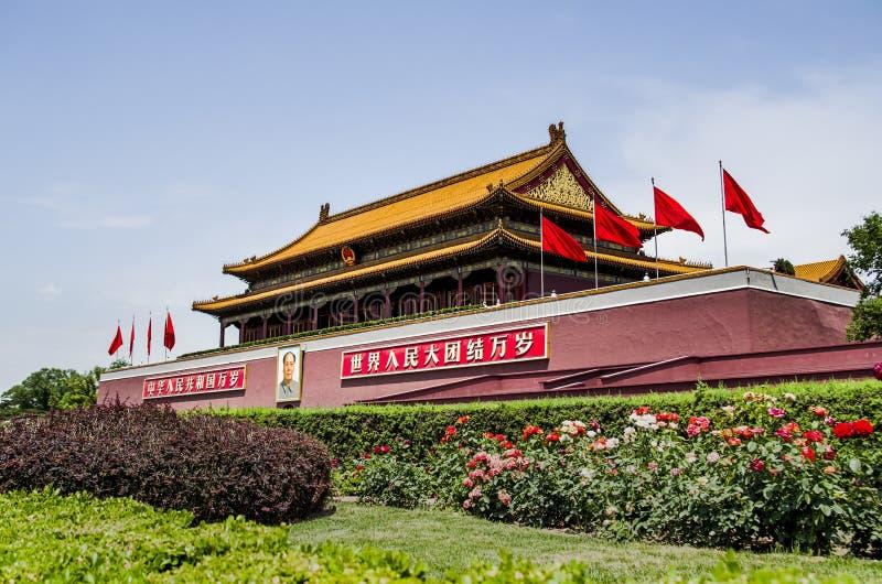 Porte de Tiananmen de Pékin photo stock