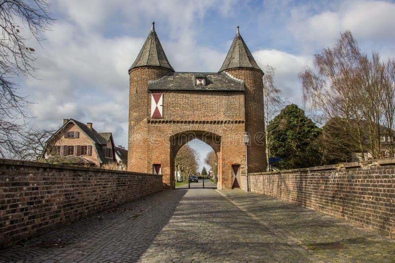 Porte de ville de Klever dans la vieille ville romaine de Xanten photo stock