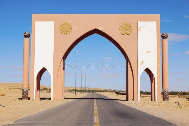 Porte de ville de Laayoune photos stock